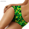 Panties Strapless Lady Girl Women's Panties Sexy Lingerie 3D Green camouflage Printed Briefs Soft Seamless Underwear Underpants