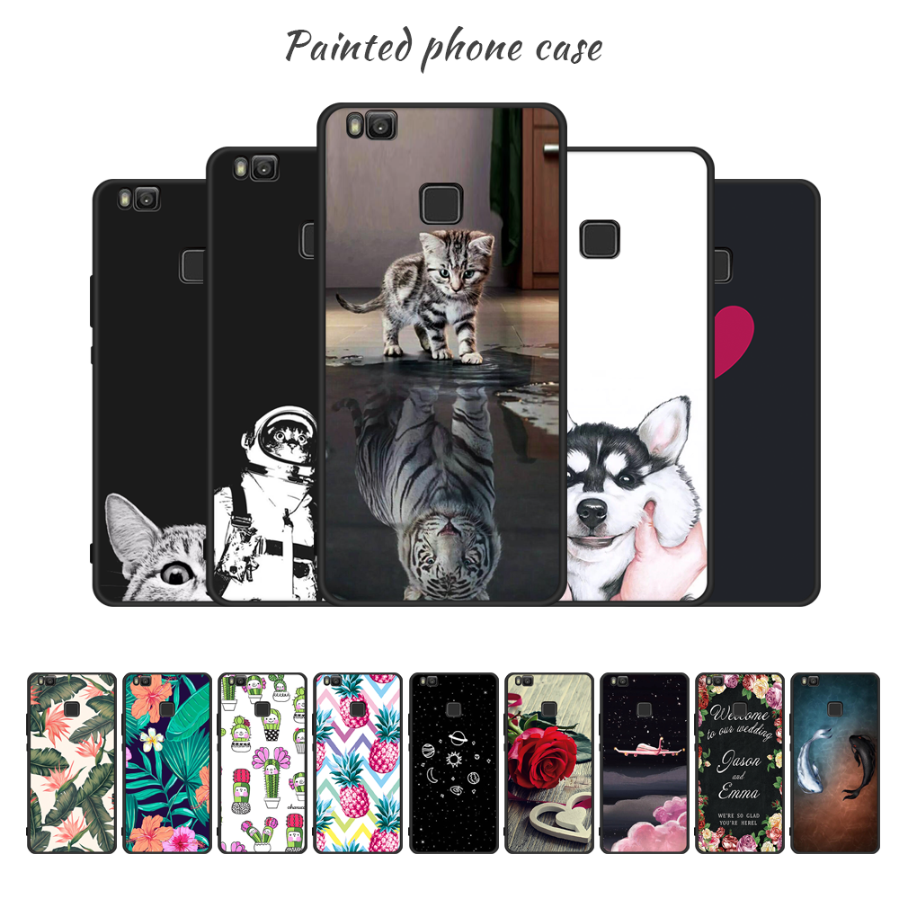 TPU Phone Case For Huawei Mate 10 Lite P20 Pro P10 P8 Lite P9 2017 Y9 2018 Nova 2i 3e Cover For Honor 8 9 Lite 9i Plant Pattern