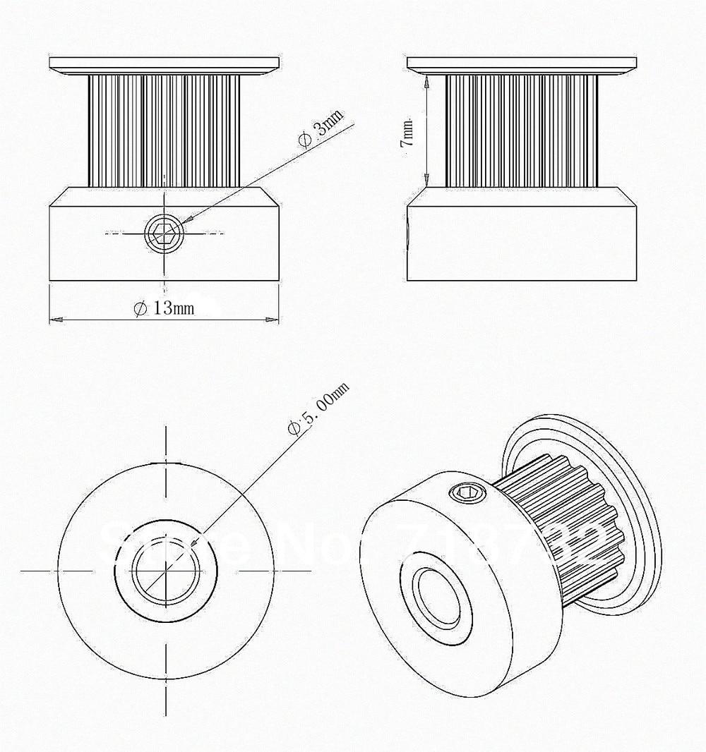 Купить с кэшбэком free shipping 10pcs GT2 timing pulley 16 tooth 6mm belt width 5mm bore