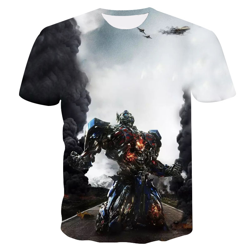 2018spring/summer new 3d printed transformers optimus prime t shirt men clothing casual fashion personality men  women's t shirt