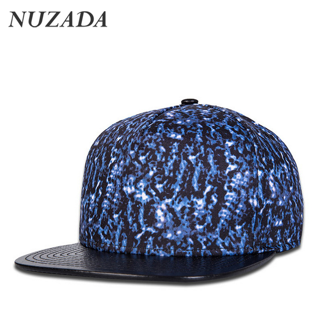 Brands NUZADA Women Men Baseball Caps Couple Classic Sports Hip Hop Hats Snapback 3D Printing PU Leather Cap Bone jt-137
