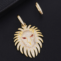 GODKI 52MM Luxury Lion Cubic Zirconia Gold Hoop Earrings for women Wedding Dubai Hoop Earrings boucle d'oreille femme 2018