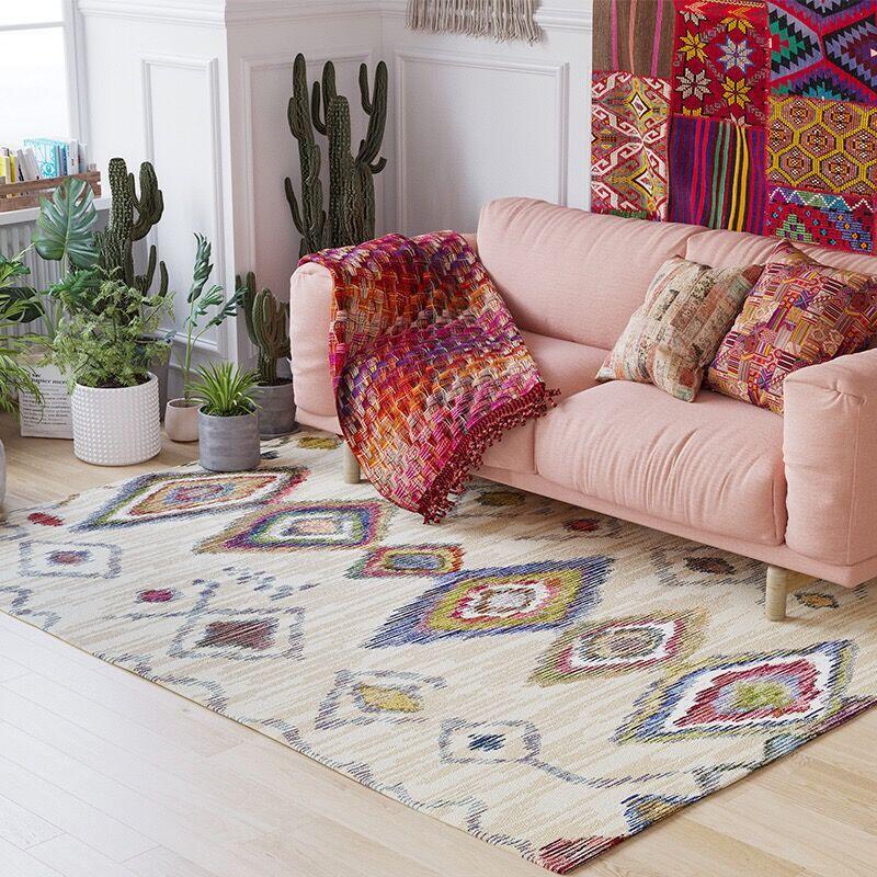 Geometric Kilim Carpets For Fiving Room
