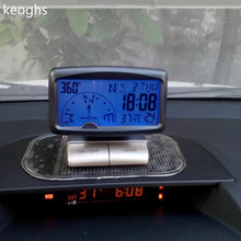 AAA battery 10*8*6CM Multi-function LCD English manual Car Compass inclinometer compass car accessories inclination