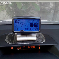 AAA battery 10*8*6CM Multi function LCD English manual Car Compass inclinometer compass car accessories inclination