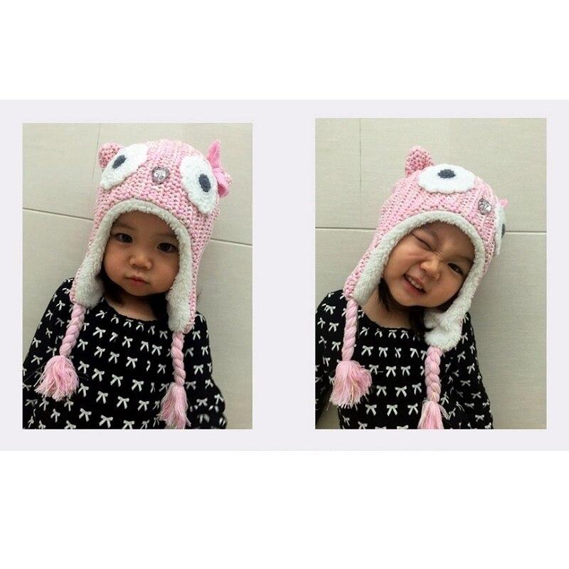 fea08e5cb89 2017 New Brand LANGZHEN Girls Hats Pink Owl Kids Baby Winter Hats Bonnet  Enfant Hat For Children Baby Muts KF079. Salvează produsul. Mărește  imaginea la ...