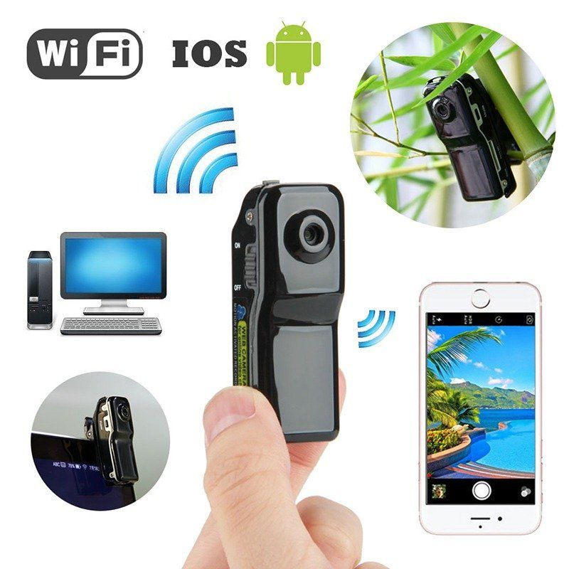 8G Card+Wireless WIFI Mini DV Camera 1080P DVR Cam Video Camcorder Home Security 5 8g 32 channels 400mw hd 1080p fpv wireless transmitter dvr camera