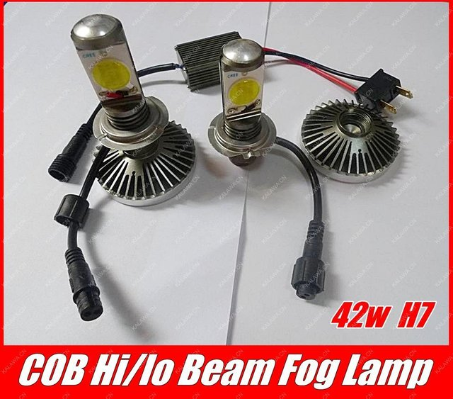 One Set 42W H7 Hi/Lo Beam 3600 lms CANBUS LED Car Fog light Double COB LED Source H4 H8 H11 H16 9005 9006 GGG (FREESHIPPING)
