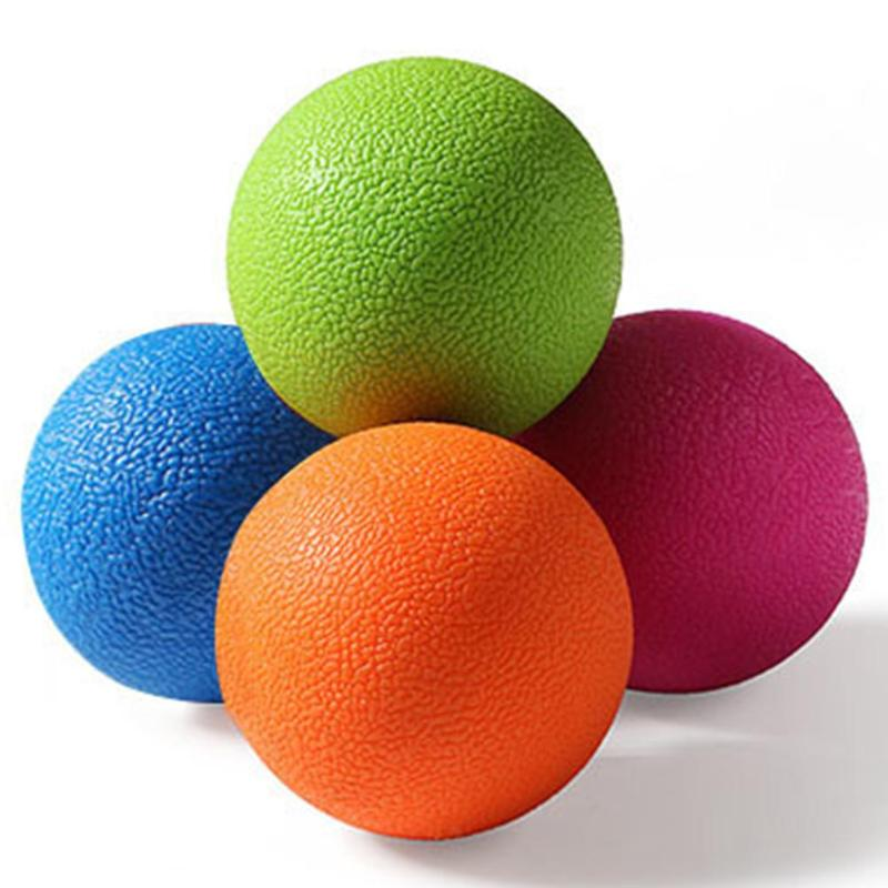 1PCS Exercise Massage Ball  TPE  Ball Sports Yoga Muscle Relax Fatigue Roller Gym Fitness Massage Therapy Body Exercise Ball NEW