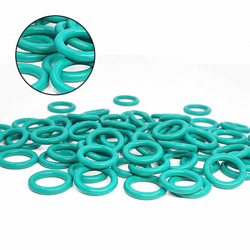 5 unids/lote, anillo de goma verde FKM O sello de anillo de 4mm de espesor OD22/24/25/26/27/28/30/32/33/34mm, arandela de anillo redondo de goma