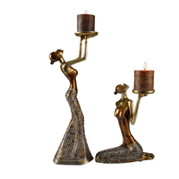 Retro European Moroccan Candelabrum FigurinesWedding Decor Iron Candlestick Home Decoration Candleholder Gifts Crafts