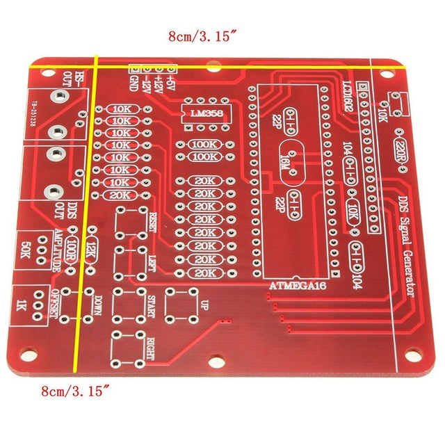 1PC DDS Function Signal Generator Module Sine/Triangle/Square Wave Digital Module Active Components
