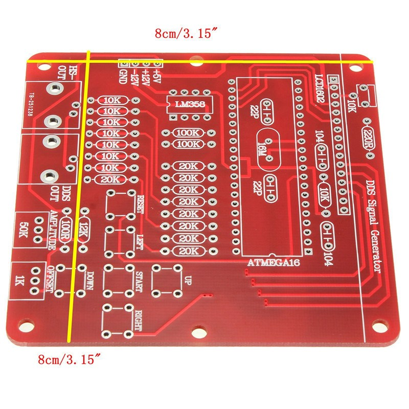 1PC DDS Function Signal Generator Module Sine/Triangle/Square Wave Digital Module Active Components ...