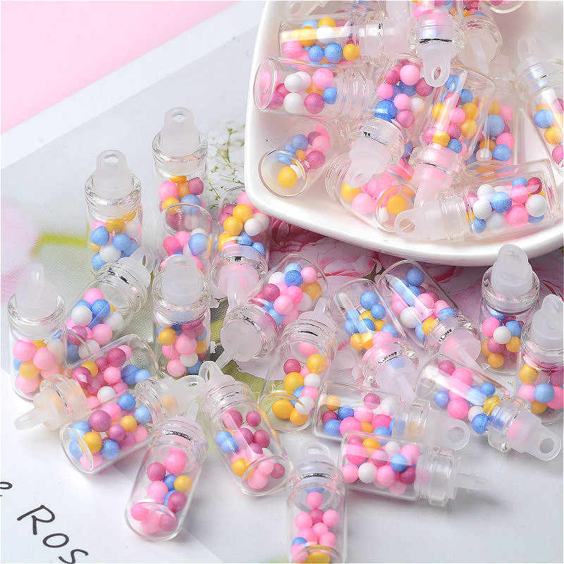 10Pcs/lot Simulation 3D Drift Bottle DIY Resin Cabochon Craft Miniature Figurines Phone Case Decoration Earrings Accessories