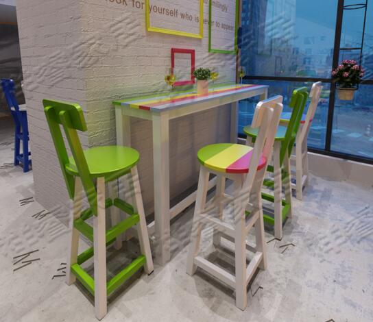 Solid Wood Makes Old Bar Stool,high Chair Highchair.
