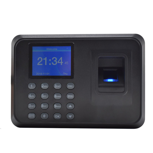 US $19 99 |New Employee Fingerprint Time Attendance Biometric Time Recorder  With Excel Report Easy Use-in Time Recording from Computer & Office on