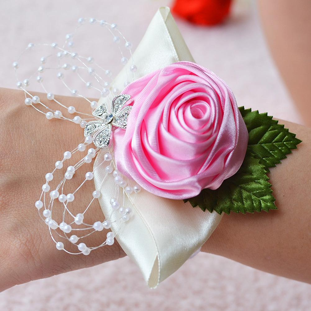 Women Elegant Chic Floral Bracelet Bride Exquisite All-match Wedding