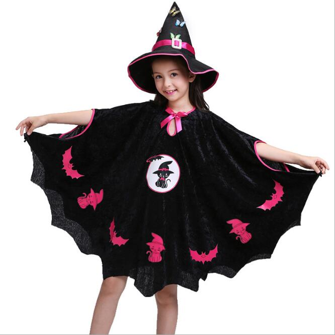Halloween children's costume cosplay costume animal clothes masquerade pretty little black cat show