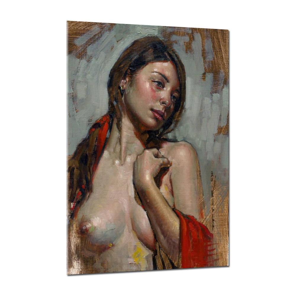 iarts nude girl beautiful breast painting best wall art decoration