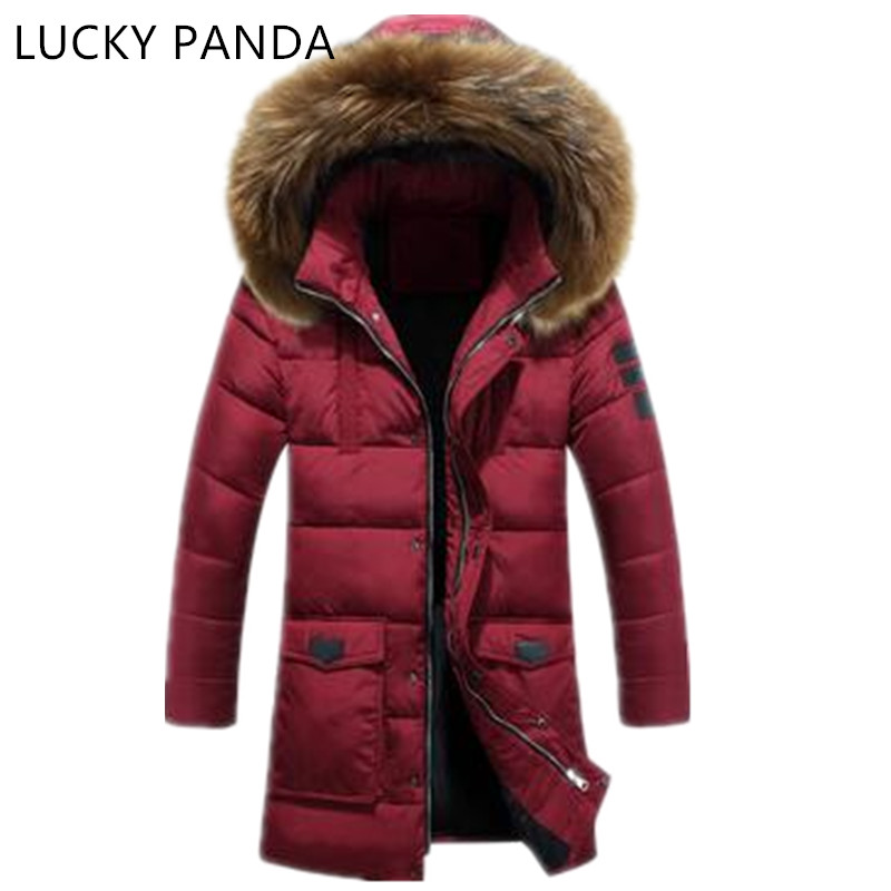 LUCKY PANDA 2016 MAN new winter clothes in the  long thick slim hooded jacket LKC008 lucky panda 2016 the new winter coat and female slim in the long and small lattice fragrant cotton lkp243