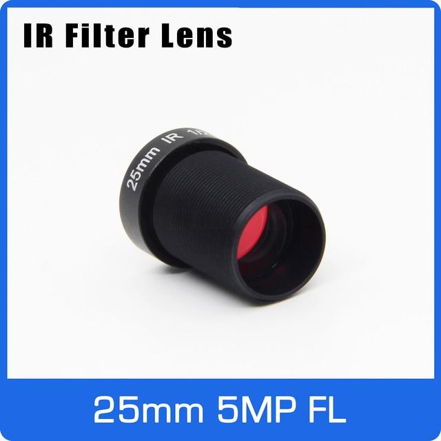 Lente câmera de ação 5 megapixels, 25mm m12 ir filtro 1/2 polegadas visão de longa distância para eken sjcam xiaomi yi câmera gopro hero sport