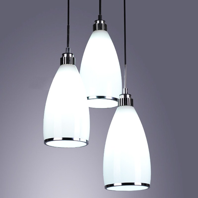 1/3Heads lamps Modern Style White Glass Gorgeous Dining Room Modern Pendant Crystal Chandelier Lighting FG911 american countryside crystal chandelier 4 heads e14 indoor lighting pendant lamp dining room chandelier lamps 220 110v wpl152