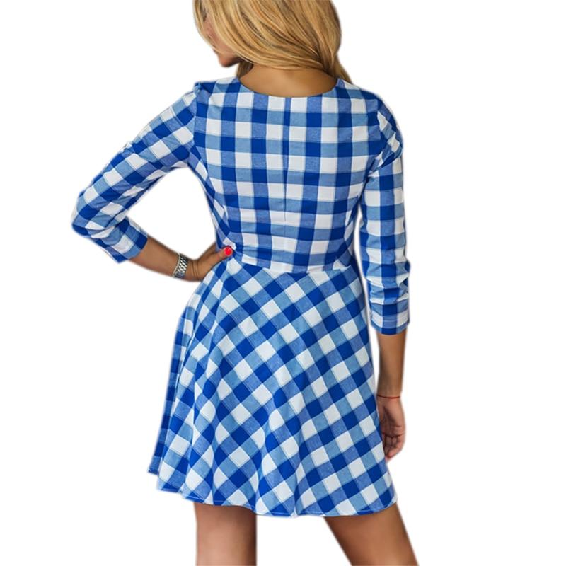 Popular blue plaid dress buy cheap blue plaid dress lots for Red plaid dress shirt