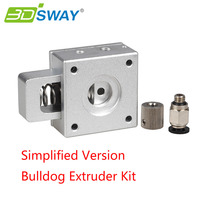 3DSWAY 3D Printer Extruder Kit Simplified Version Bulldog Extruder Aluminium Alloy Extruder Head For Reprap Kossel