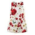 Милан творения девочек платья детская одежда 2015 полурукав принцессы платье девушки рисунок одежды для животных дети платья