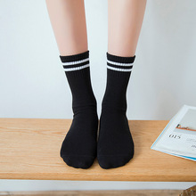 купить Brothock combed cotton two-bar booming socks children long tube in the tube student socks stockings football custom soccer socks по цене 147.85 рублей