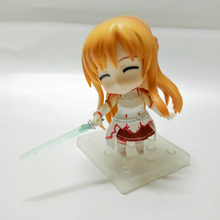 цены New Arrivals Japan Anime Action Sword Art Online Figma 283 Yuuki Asuna Sao Figures Collectable Collection Model Toys Doll Gifts
