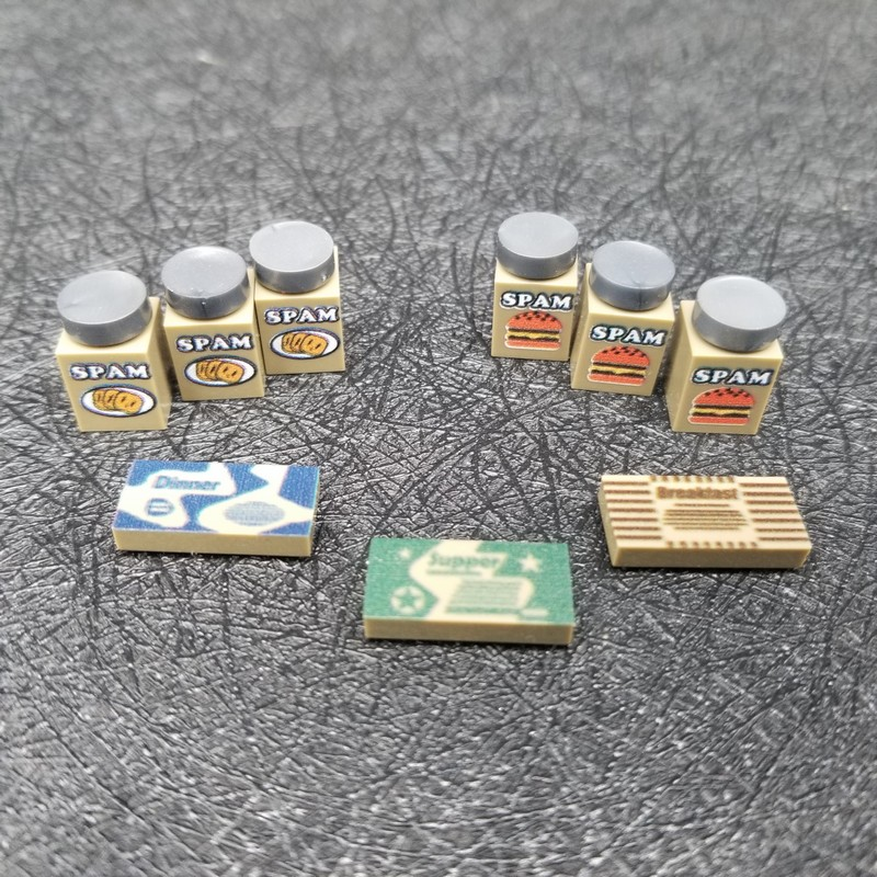3 PCS/SET Food Can Blocks Army Military Model World War 2 Particles Bricks Accessory DIY Model Building Blocks X165