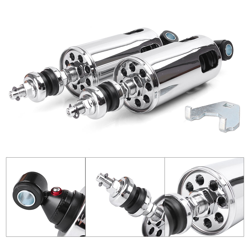 285mm Rear Shock Absorbers Suspension for Harley Davidson Softail Standard Springer Night Train Deluxe Springer Injected Classic universal 10 5 inch 267mm shock absorbers chrome motorcycle rear suspension for harley davidson xlh883 sportster silver
