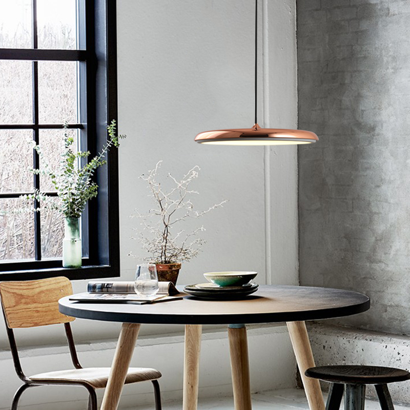 The Danish designer LED the UFO light Scandinavian minimalist ultra-thin restaurant bar table decorations droplight the scandinavian home interiors inspired by light