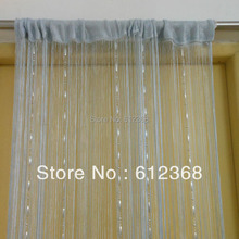 """Colors Free Shipping New """"Dew Drop"""" Beaded Fly Insect Panel Room Divider Hanging String Door Curtain Strip Tasse Screen-Gray"""
