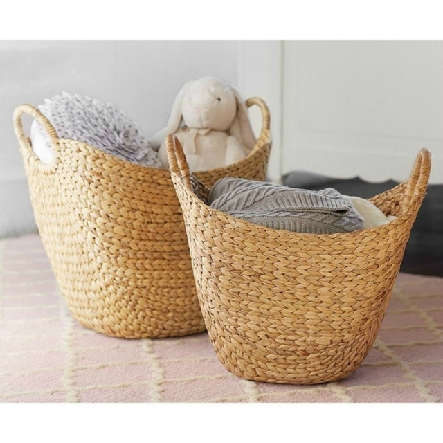 Exceptionnel Laundry Basket Height 38cm Pure Hand Woven Exquisite Seaweed Woven Storage  Basket For Toy Storage Basket