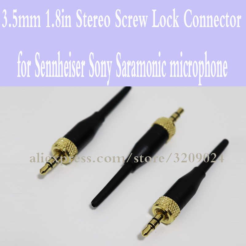 3 шт. 3,5 мм 1.8in стерео разъем винт блокировки для Sennheiser EW100 EW300 EW500 G1 G2 G3 sony Saramonic микрофон золотой