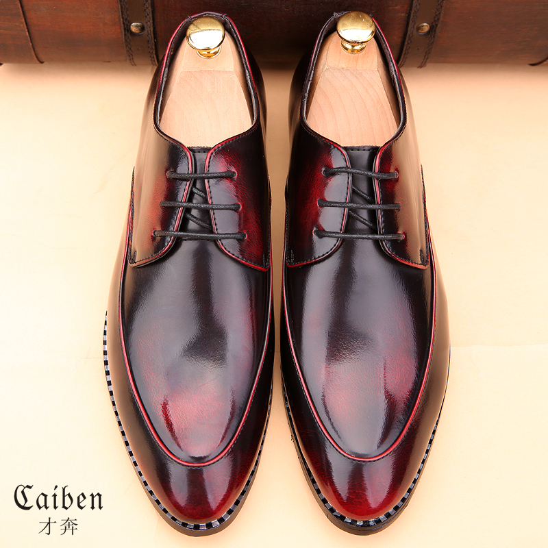 New 2016 Men Dress Shoes Pointed Toe Brogues Oxford Shoes