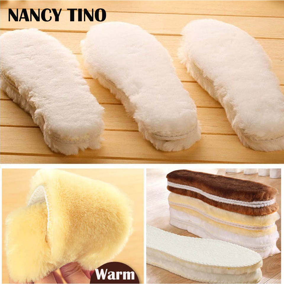 NANCY TINO Unisex Winter warm insoles artificial Cashmere Thermal Shearling Snow Boots Shoes Pads Adult Warm Insoles orlane 500ml