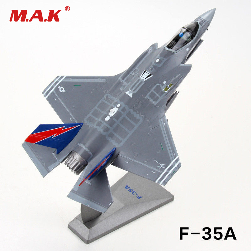 kids toys 1/72 Scale F-35A Model Lightning II Joint Strike Fighter F35 aircraft alloy model Toy for Collection new year gift 1 400 jinair 777 200er hogan korea kim aircraft model