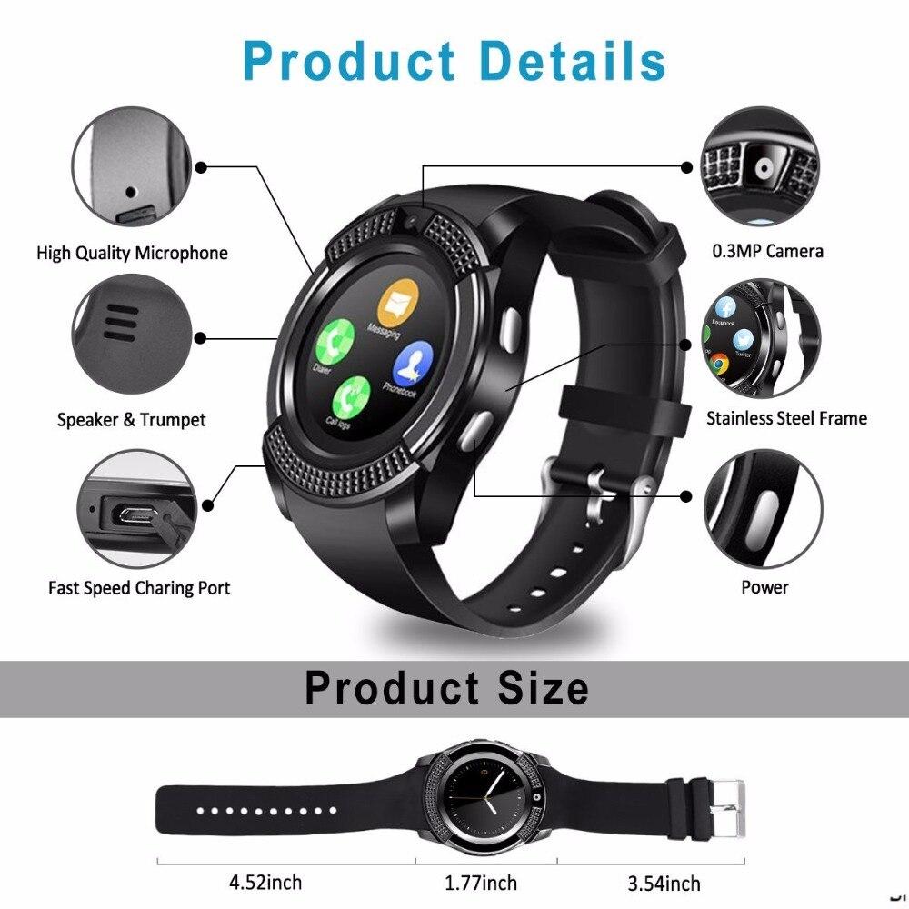 V8 SmartWatch Bluetooth Smartwatch Touch Screen Wrist Watch