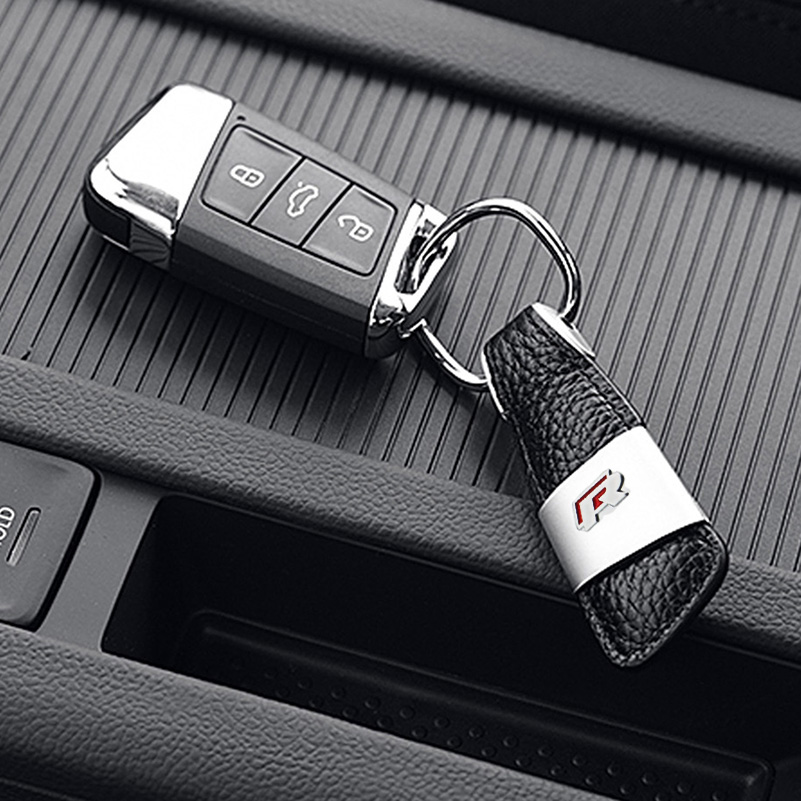 AUXITO Car Styling Keychain Key Ring Emblem For VW Polo Golf 4 5 Jetta MK4 MK5 Passat B5 B6 GTI EOS Scirocco Touran Bora Caddy beler car grey interior dome reading light lamp itd 947 105 fit for vw golf jetta mk4 bora 1999 2004 passat b5 1998 2005