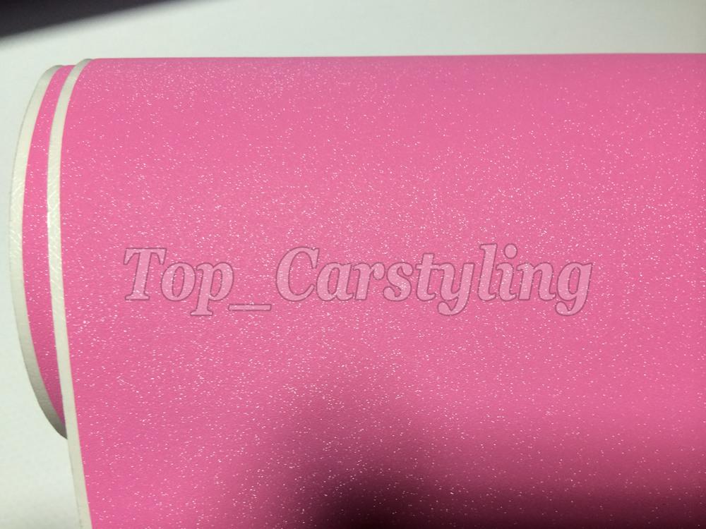 Glitter vinyl pink frosty car wrap 3m (2)