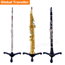 Universal Flute Clarinet folding Tripod stand bracket Soprano Sax folding Tripod bracket straight saxophone stability