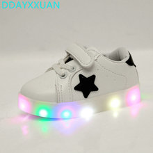 Children Shoes With Light 2017 New Toddler Baby LED Light Up Kids Luminous Sport Shoes Glowing Sneakers Boys Girls Ligthed Shoe