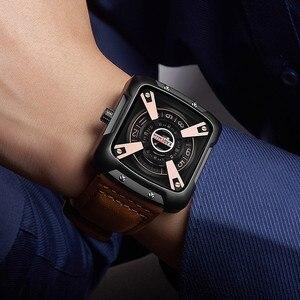 Image 3 - 612G New KADEMAN Fashion Watch Men Quartz Outdoor Sport Leather Wristwatches Casual Waterproof Unique Design Relogio Masculino