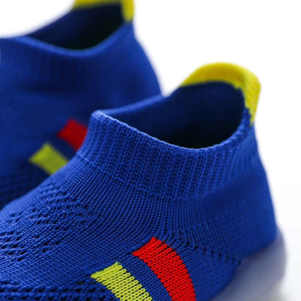 US $7.35 41% OFF|Kids Sneakers Girls Boys Stripe Cute Toddler Infant Little Kids Knitted Breathable Shoes Chaussures Fila Enfant Baby