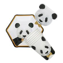 Lovely Panda Disposable Paper Party Tableware Set