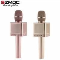 SZMDC Original MicGeek Q10S Wireless Bluetooth Magic Karaoke Microphone With 4 Speakers MIC Black Carring Case Fun Voice Change