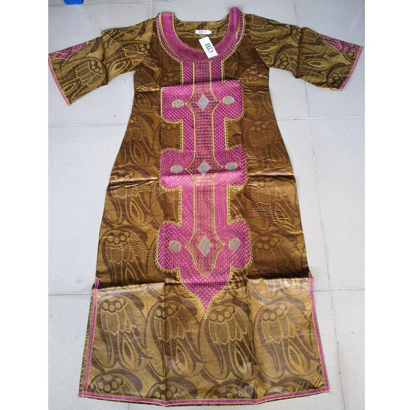 Ücretsiz kargo Afrika geleneksel bazin riche kadın pamuk işlemeli - Ulusal Kıyafetler - Fotoğraf 4